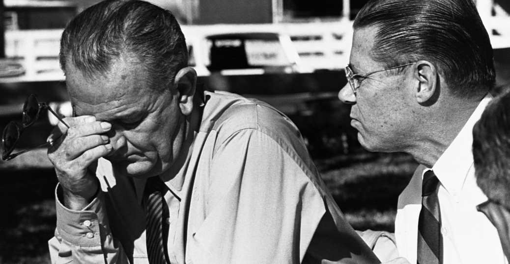 the vietnam war, president lyndon b. johnson, defense secretary robert mcnamara, lbj ranch, 1964