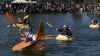 west coast giant pumpkin regatta, tualatin commons, pumpkins, kayaks, halloween, pumpkin kayaking
