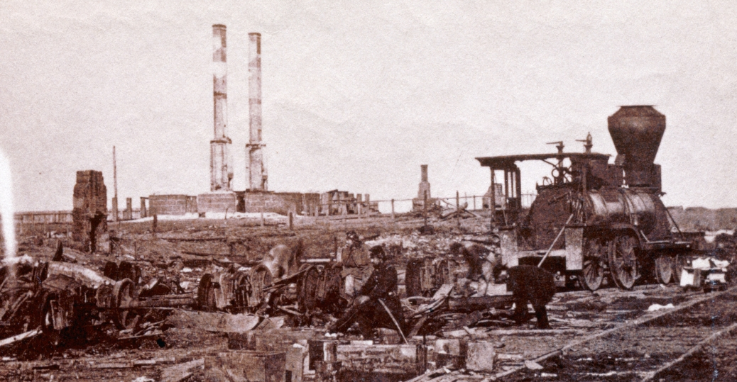 railroad yard, manassas, virginia, first battle of bull run, battle of bull run, the civil war, civil war ruins, 1862