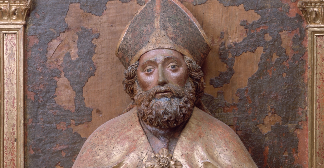saint nick, saint nicholas, parish, sculpture of saint nicholas, castello d'aviano, italy, santa claus