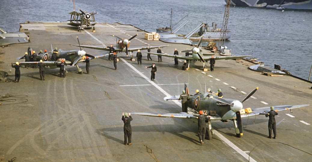 seafire aircraft, british aircraft carrier, world war II, 1942