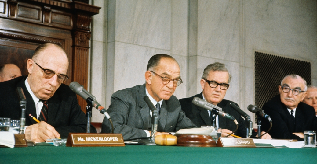 the senate foreign relations committee, general maxwell taylor, 1966, the vietnam war