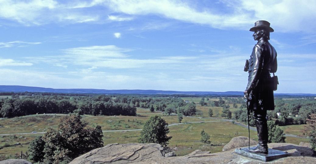 gettysburg national military park, pennsylvania, g.k. warren, gettysburg battlefield, battle of gettysburg, 1863, the civil war