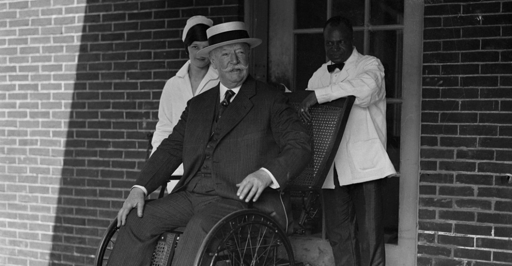 After his resignation as Chief Justice and days before his death the very ill Taft was photographed outside a hospital. : president in wheel chair - Cheerinfomania.Com