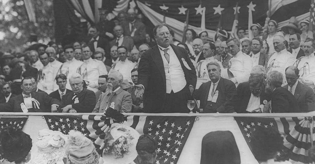 president taft, william h. taft, manassas court house, governor william h. mann, 1911