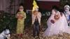 halloween, trick or treating, 1970s, children, costumes, pumpkins, 1974