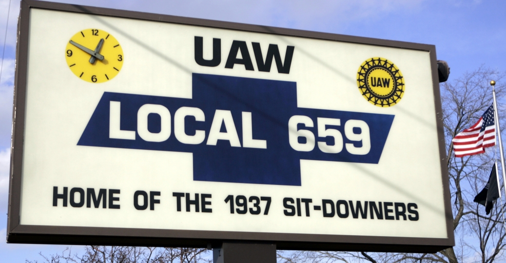 sit down strike, 1937, sit downers, union contract, first union contract, automaker, labor rights, labor day