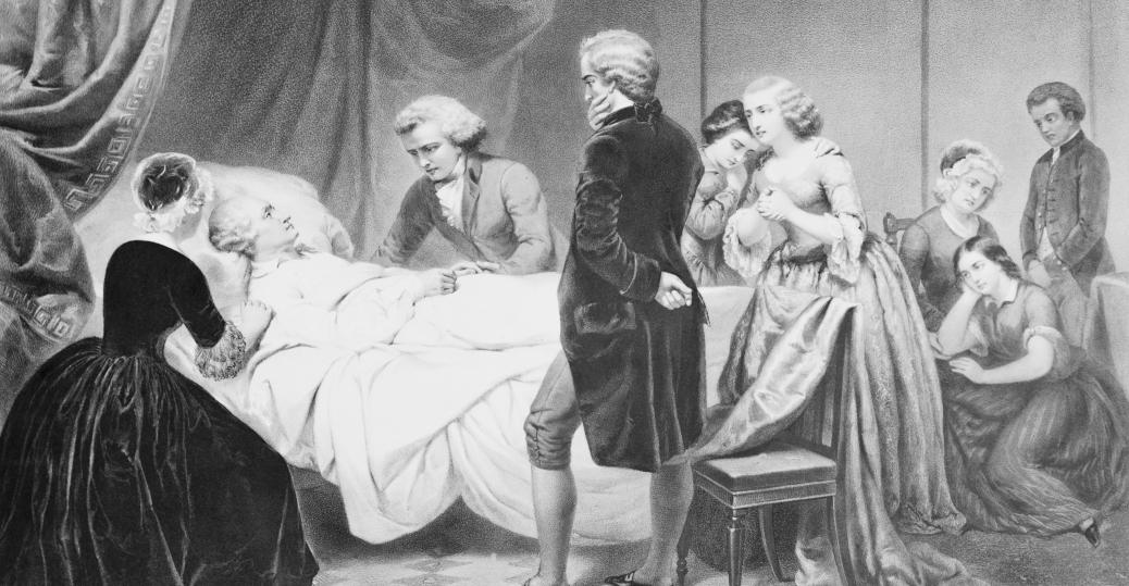december 14, 1799, george washington, respiratory ailment, tis well