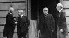 the big four, versailles peace conference, lloyd george, orlando, clemenceau, president woodrow wilson, great britain, italy, france, the united states