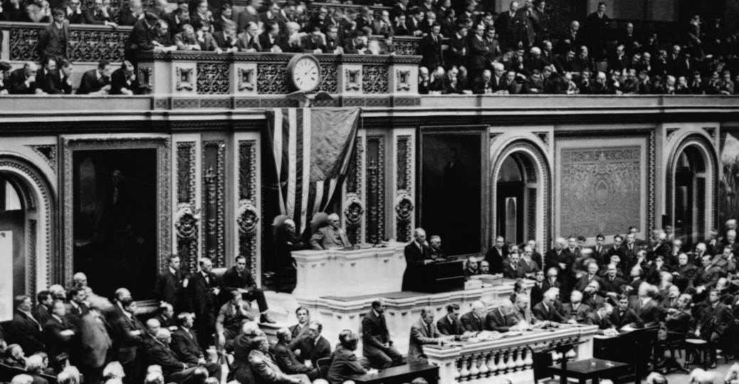 1917, president woodrow wilson, 28th president of the united states, declaration of war against germany