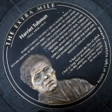 Harriet Tubman medallion on G Street NW in Washington D.C.