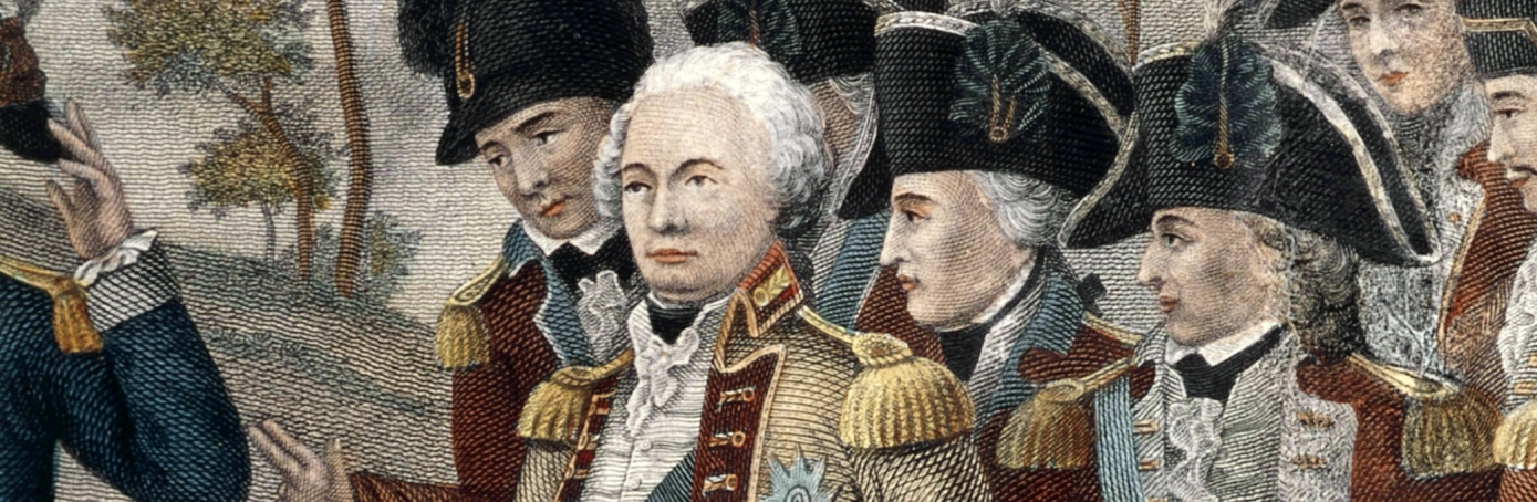 British Gen. Charles Cornwallis and his men surrender at Yorktown.