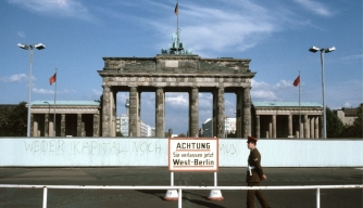 The Brandenburg Gate in East Berlin