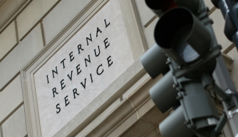 IRS sign in Washington, D.C.