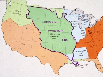 Louisiana Purchase Facts Summary HISTORYcom - Map of us territories in 1803