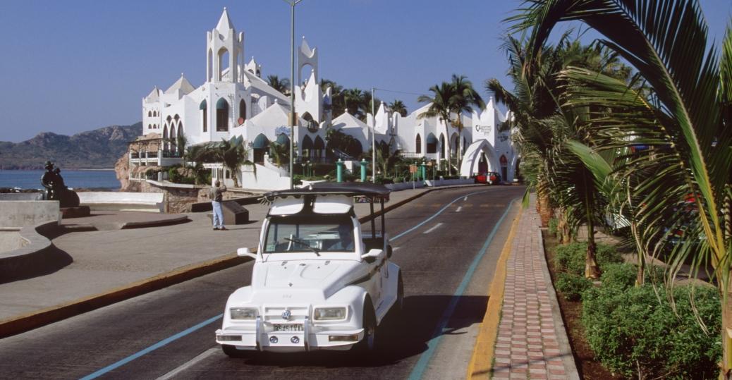 tourist taxi, waterfront, mazatlan, sinaloa, mexico