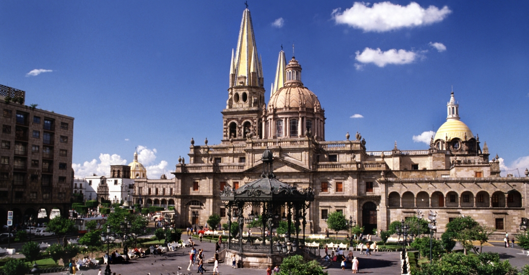 cathedral of guadalajara, plaza de la armas, jalisco, mexico