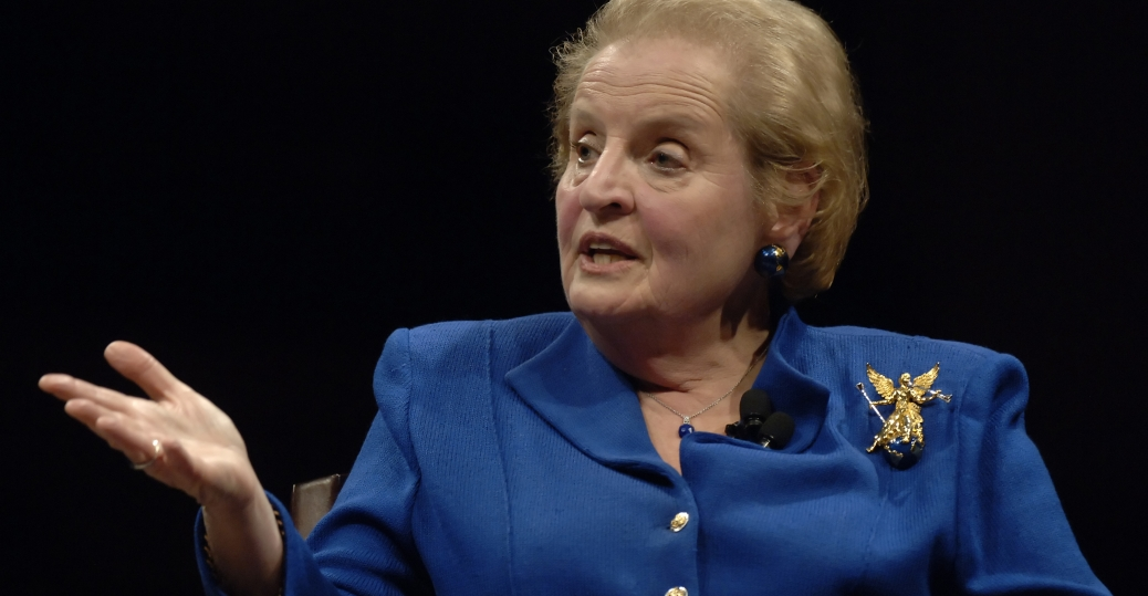 madeline albright, first female u.s. secretary of state, 1997, women leaders, women's history