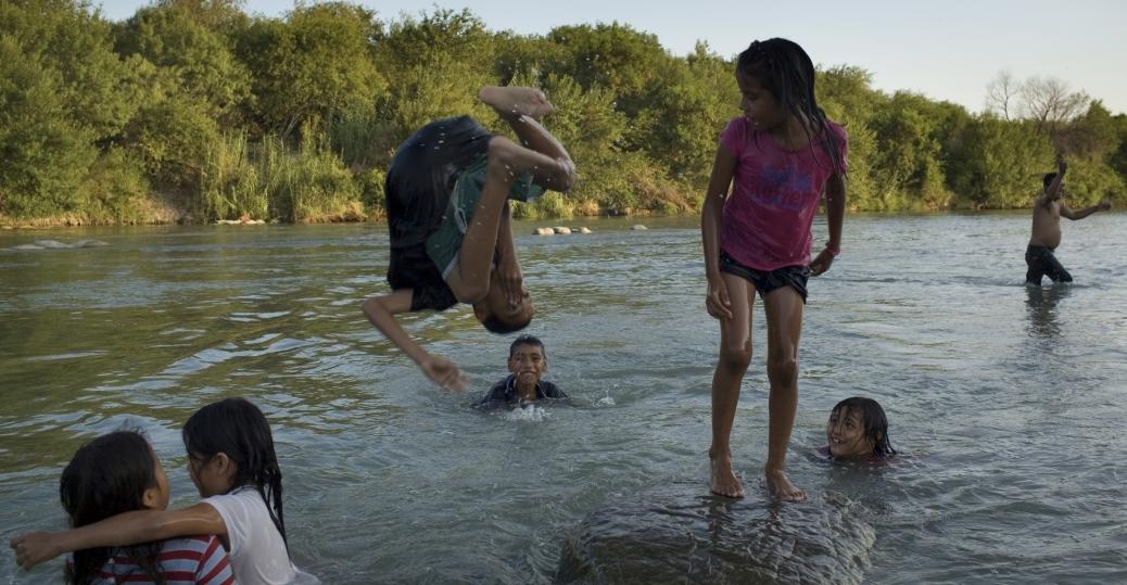 rio bravo river, us-mexican border, nuevo laredo, tamaulipas, mexico
