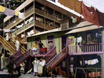 tenement flats, murals, sculptures, paintings, artists, millard sheets, new deal programs, the great depression