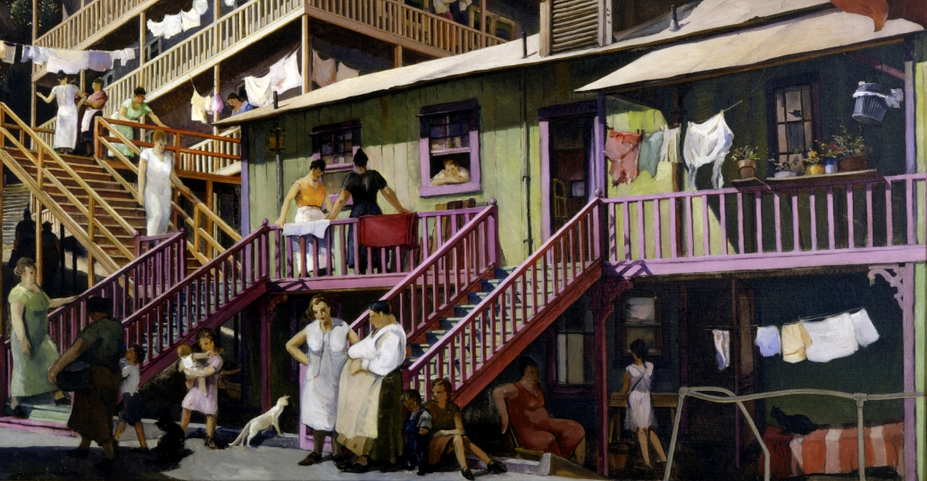 tenement flats, murals, sculptures, paintings, artists, millard sheets, new deal programs, the great depression