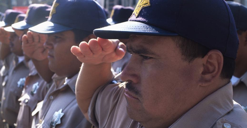 military parade, plaza de los fundadores, san luis potosi, mexico