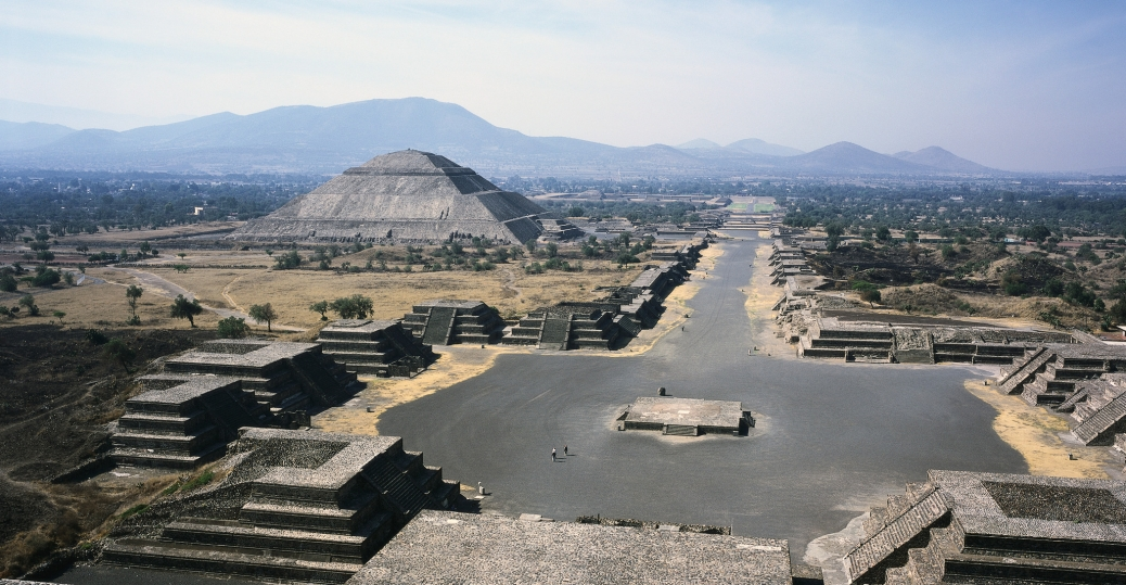 teotihuacan, avenue of the dead, mexico state, mexico
