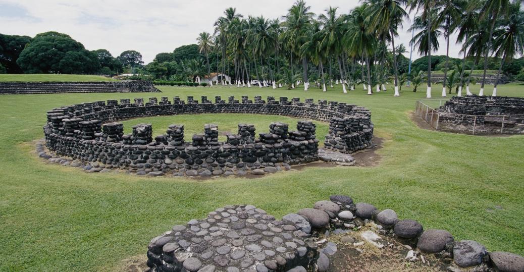cempoala archaeological site, cempoala, veracruz, mexico