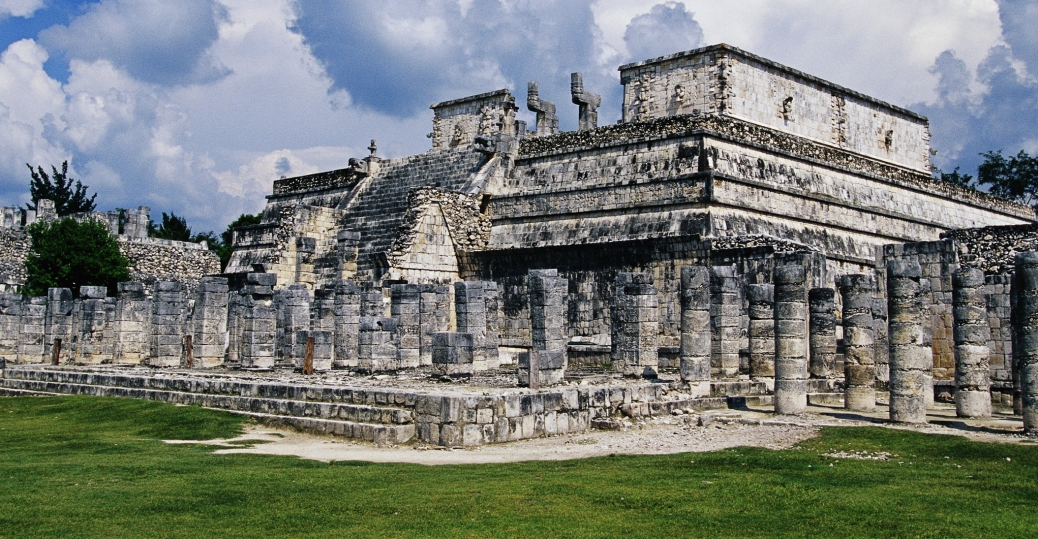 temple of the warriors, chichen-itza, yucatan, mexico
