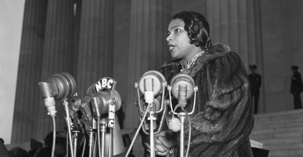 marian anderson, african american singer, the metropolitan opera, the lincoln memorial, civil rights, women in the arts, women's history