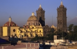 puebla cathedral, puebla, mexico
