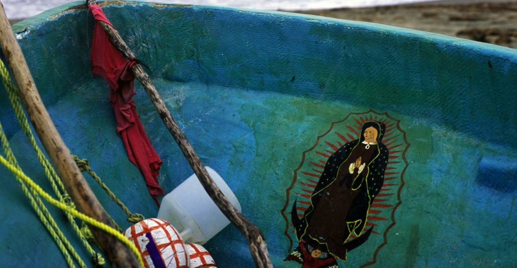 fishing boat, virgin of guadalupe, mexico's patroness, gulf of mexico, frontera, tabasco, mexico