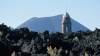 ruined church, san juan parangaricutiro, paricutin, michoacan, mexico, volcano