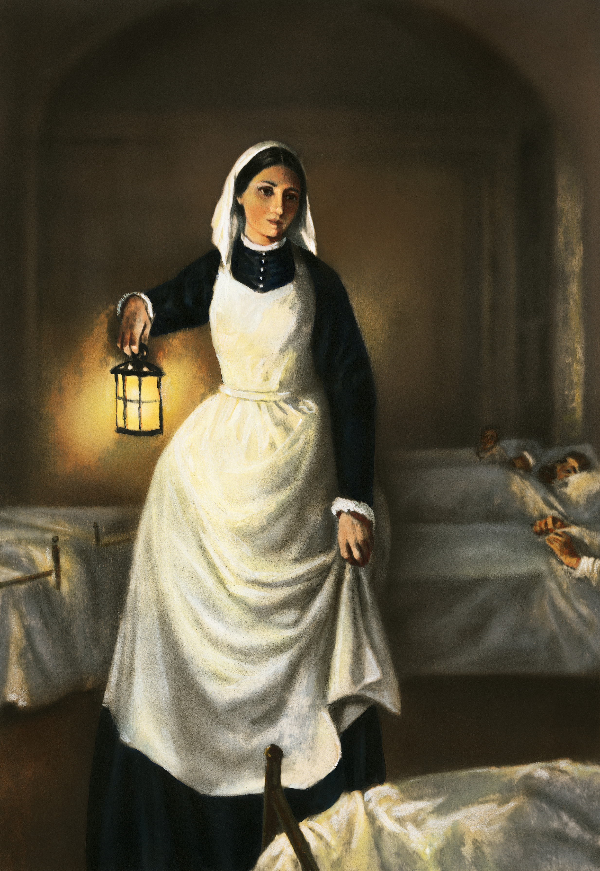 illustration-of-florence-nightingale-holding-lamp - Women in ...