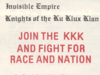 the perpetration of racism in the notorious ku klux klan