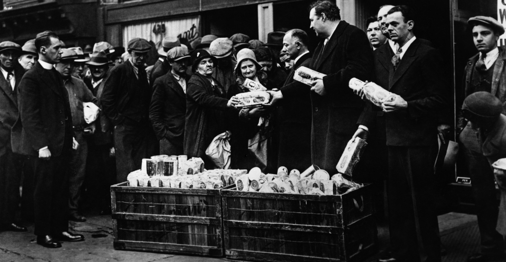 the great depression, unemployment, poverty, soup kitchens, breadlines
