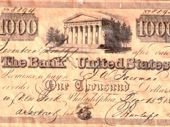 andrew jackson and the bank war The bank would quickly gain allies and enemies, and the bank war was  underway  both houses of congress and came to president andrew jackson's  desk.