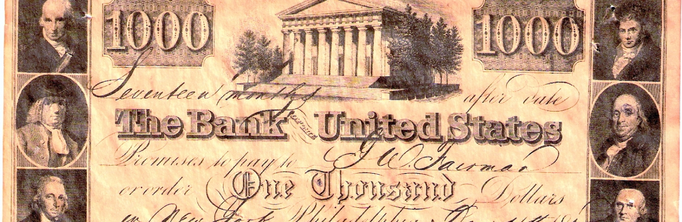 Second Bank of the U.S. promissory note
