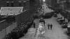 winding breadline, manhattan, christmas, 1931, new york municipal lodging house, the great depression, soup kitchens, breadlines