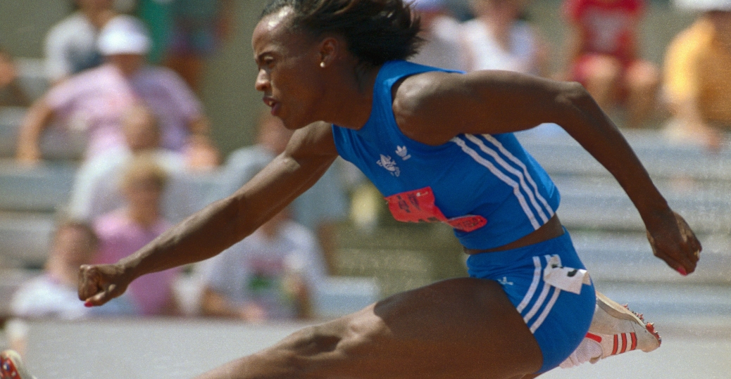 jackie joyner kersee, olympic gold medals, the heptathlon, sports illustrated, women's greatest female athlete of all time, women in sports, women's history