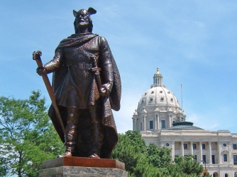 Leif Eriksson statue at MN state capitol