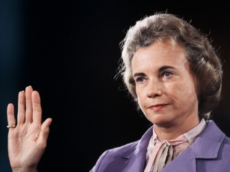 sandra day o'connor, ronald reagan, first female justice of the supreme court, 1981, women leaders, women's history
