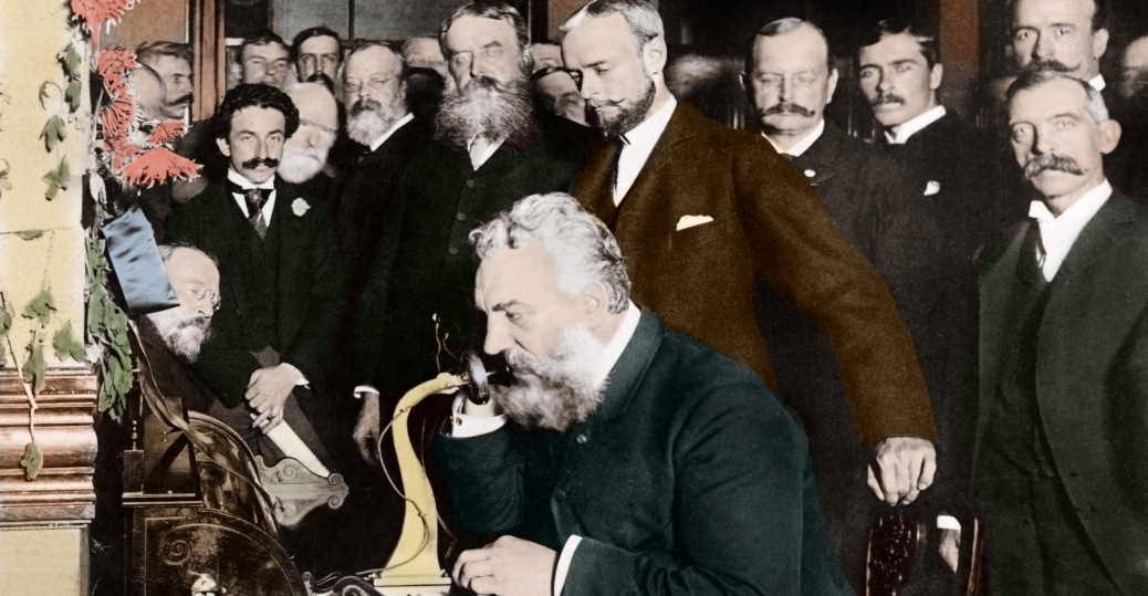 alexander graham bell, the first long distance telephone call, 1892, chicago, new york, the telephone, communication inventions