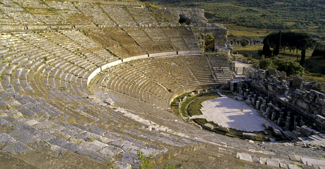 ancient greek empire, ephesus, turkey, ancient greece, greek architecture, amphitheater, amphitheater in ephesus