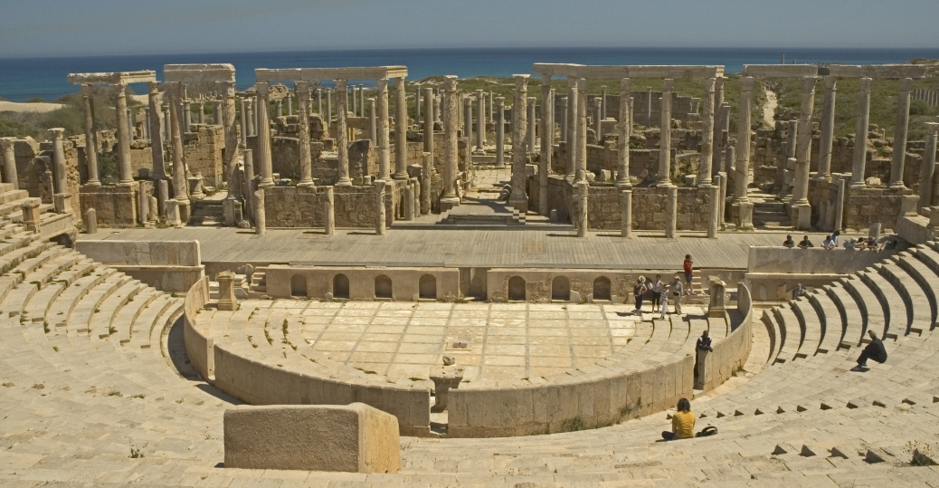 tripoli, libya, leptis magna, amphitheater, rome, emperor septimius severus, AD 56, ancient rome, roman architecture and engineering