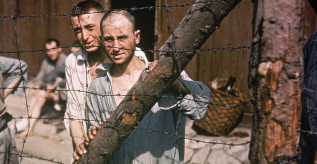 buchenwald, concentration camp, weimar, germany, 1945, world war II, prisoners of war, barbed wire fence