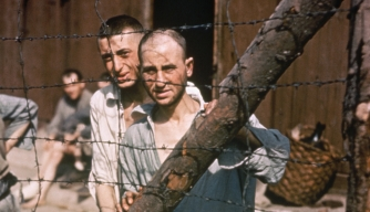 Prisoners at Buchenwald Concentration Camp.
