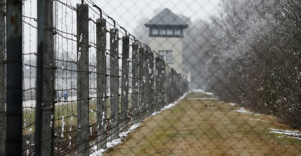 dachau, concentration camp, barb wire fence, germany, world war II, nazis
