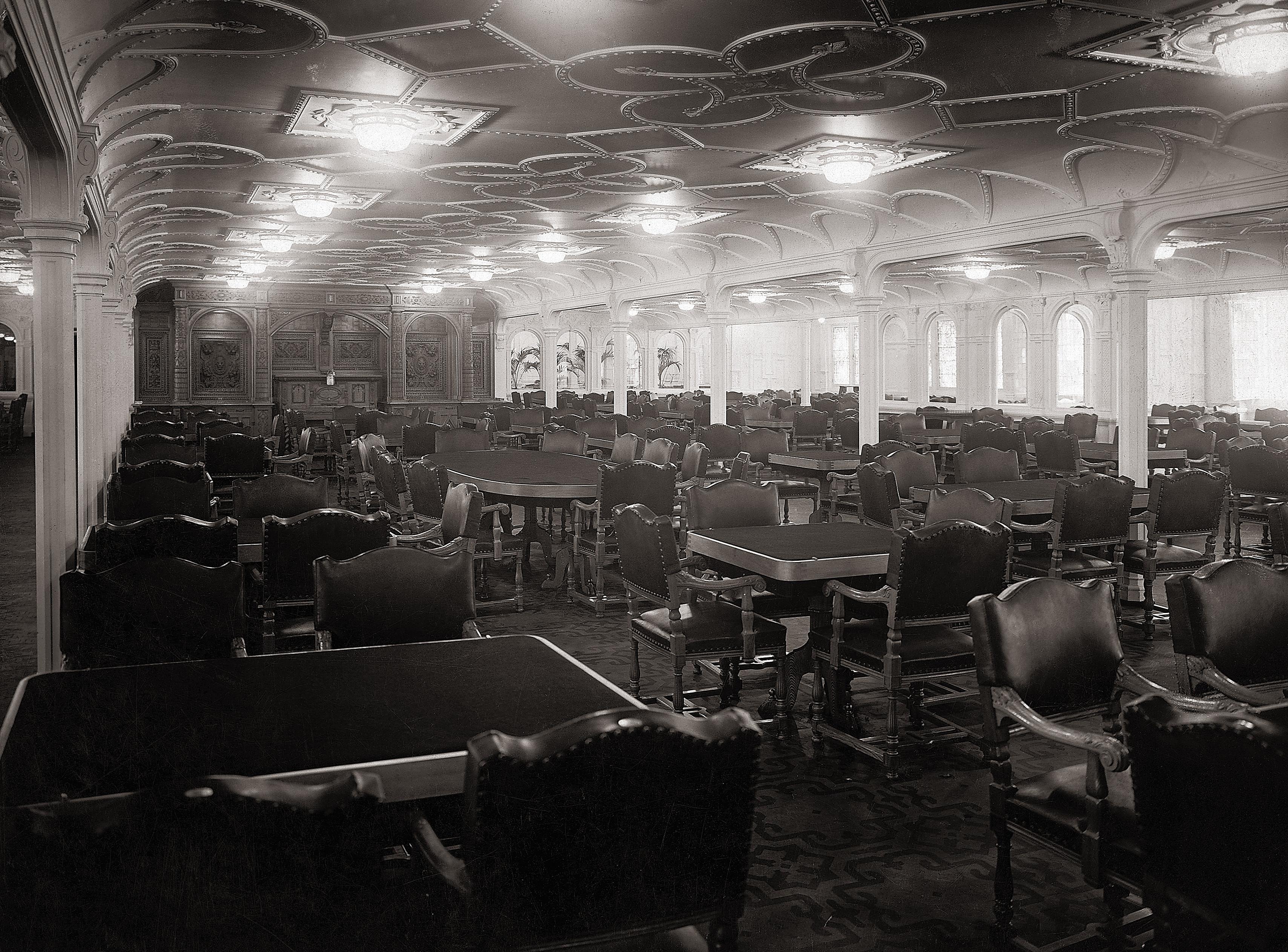 main-dining-room-of-the-titanic - titanic: passengers and