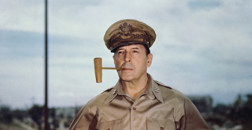 general douglas macarthur, manila, philippines, 1945, world war II, allied military leaders